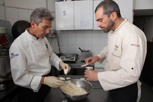 Mauro e Dario Petrini al lavoro